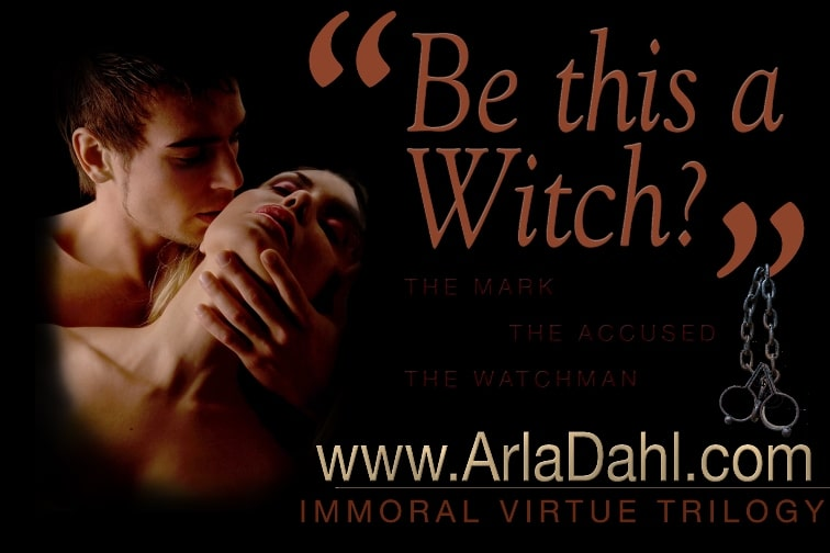 "Be This A Witch - Immoral Virtue Trilogy Meme - passionate couple with tag line ""Be this a witch"""