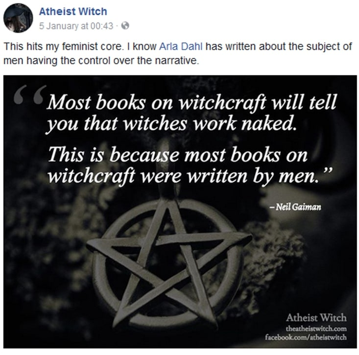 Atheist Witch meme - Most books on witchcraft will tell you witches work naked...